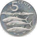 5 Cents - Elizabeth II (Bonito Fish) – reverse