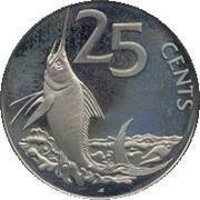 25 Cents - Elizabeth II (Blue Marlin) – reverse