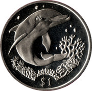1 Dollar - Elizabeth II (Dolphin) – reverse
