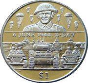 1 Dollar - Elizabeth II (D-Day) – reverse
