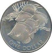 1 Dollar - Elizabeth II (Butterfly Fish) – reverse