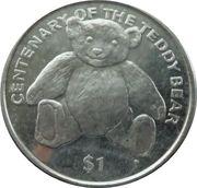 1 Dollar - Elizabeth II (Teddy Bear) – reverse