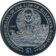 1 Dollar - Elizabeth II (The Funeral Of Elizabeth I) – reverse