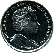 1 Dollar - Elizabeth II (Golden Jubilee, Queen on Throne) – obverse