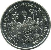 1 Dollar - Elizabeth II (Golden Jubilee, Carnival Dancers) – reverse