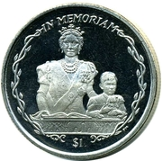 1 Dollar - Elizabeth II (Queen Mother and a young Prince Charles) – reverse