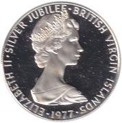 25 Cents - Elizabeth II (Silver Jubilee) – obverse