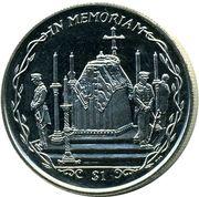 1 Dollar - Elizabeth II (Queen Mother's coffin) – reverse