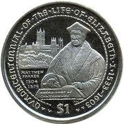 1 Dollar - Elizabeth II (Matthew Parker - Archbishop of Canterbury) – reverse