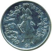 1 Dollar - Elizabeth II (The Tale of Peter Rabbit) – reverse