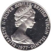 50 Cents - Elizabeth II (Silver Jubilee) – obverse