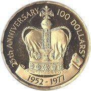 100 Dollars - Elizabeth II (Silver Jubilee) – reverse