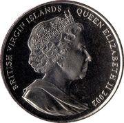 1 Dollar - Elizabeth II (Golden Jubilee, Queen with Reagan's) – obverse