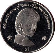 1 Dollar - Elizabeth II (Princess Diana) – reverse