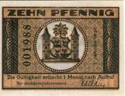 10 Pfennig (orange issue) – reverse