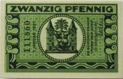 20 Pfennig (green issue) – reverse