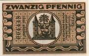 20 Pfennig (orange issue) – reverse