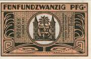 25 Pfennig (orange issue) – reverse