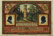 50 Pfennig (Goethe Series - Gabelbach) – obverse