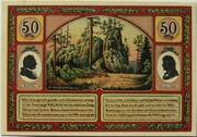 50 Pfennig (Goethe Series - Hermannstein) – reverse