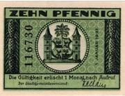 10 Pfennig (green issue) – reverse