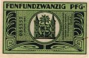 25 Pfennig (green issue) – reverse