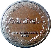 Amusement Token - Admiral Novomatic International – obverse