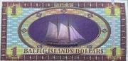 1 Baltic Islands Dollar – reverse