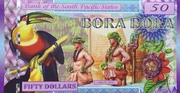 50 Dollars (Bora Bora) – obverse