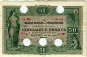 50 Francs (Banque Cantonale Neuchâteloise) – obverse