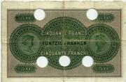 50 Francs (Banque Cantonale Neuchâteloise) – reverse