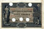 100 Francs (Banque Commerciale Neuchâteloise) – obverse