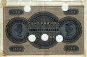 100 Francs (Banque Commerciale Neuchâteloise) – reverse