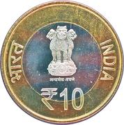 10 Rupees (475th Birth Anniversary of Maharana Pratap) -  obverse
