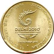 5 Rupees (19th Commonwealth Games - Delhi 2010) -  reverse