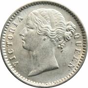 ¼ Rupee - Victoria – obverse