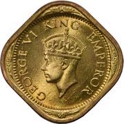 ½ Anna - George VI -  obverse