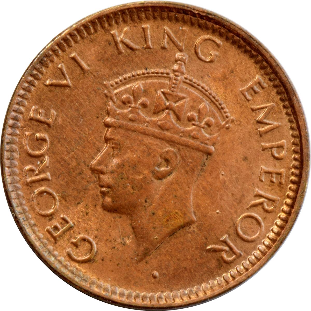 1 12 Anna George Vi India British Numista