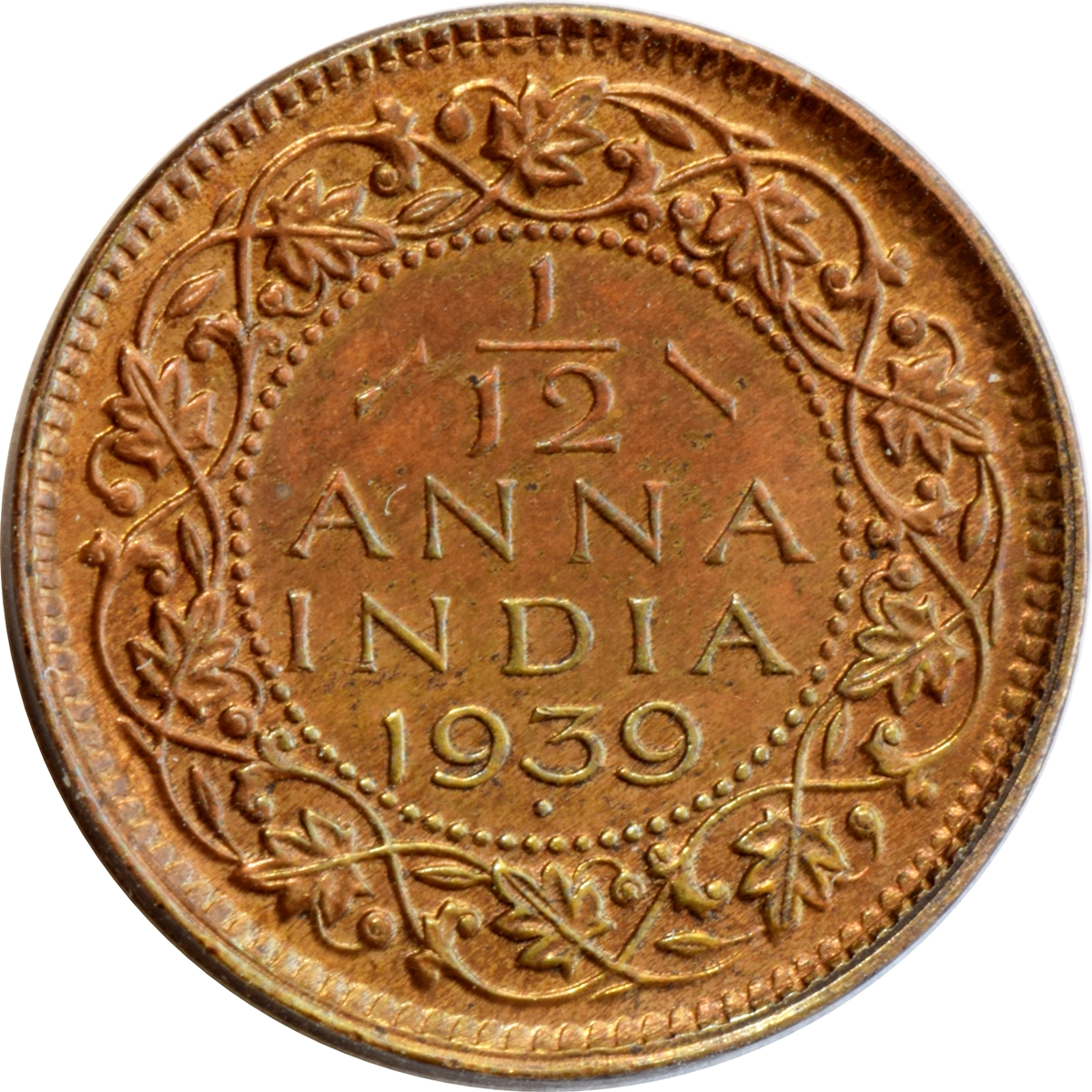 1 12 Anna George Vi India British Numista