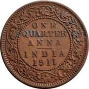 ¼ Anna - George V -  reverse