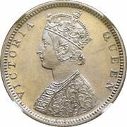 ½ Rupee - Victoria -  obverse