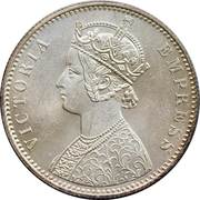 1 Rupee - Victoria – obverse