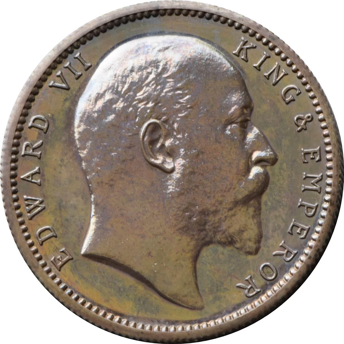 1 Rupee Edward Vii India British Numista