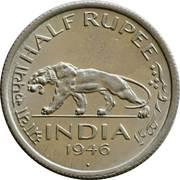 ½ Rupee - George VI -  reverse
