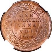 ¼ Anna - Edward VII -  reverse