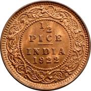 ½ Pice - George V -  reverse