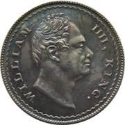 1 Rupee - William IV (Pattern) – obverse