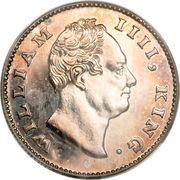 ½ Rupee - William IV – obverse