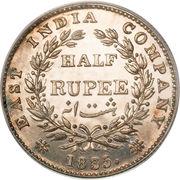 ½ Rupee - William IV – reverse