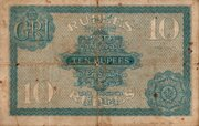 10 Rupees (King George V - 2nd Issue) – reverse